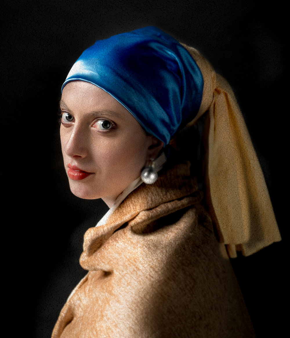 Based on the famous painting of Johannes vermeer: The Girl with the pearl Earring