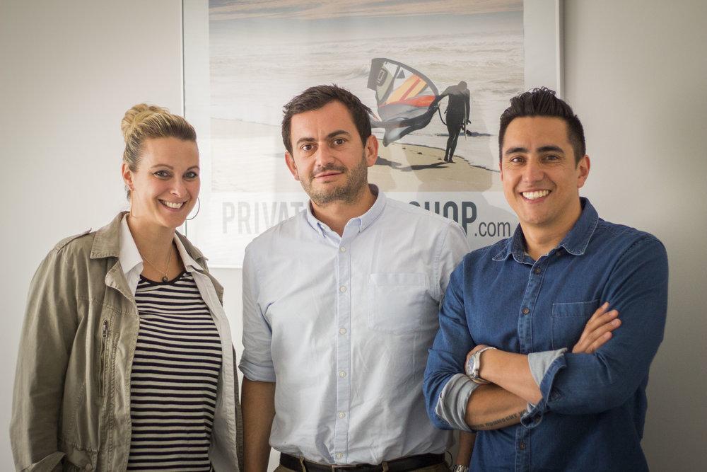Benoit Durand Co-Fondateur de Private Sport Shop, à l'issue d'une session de travail avec les fondateurs d'Osyla, Aurélie & Vincent (Saison 2 - SPRINT Montpellier)