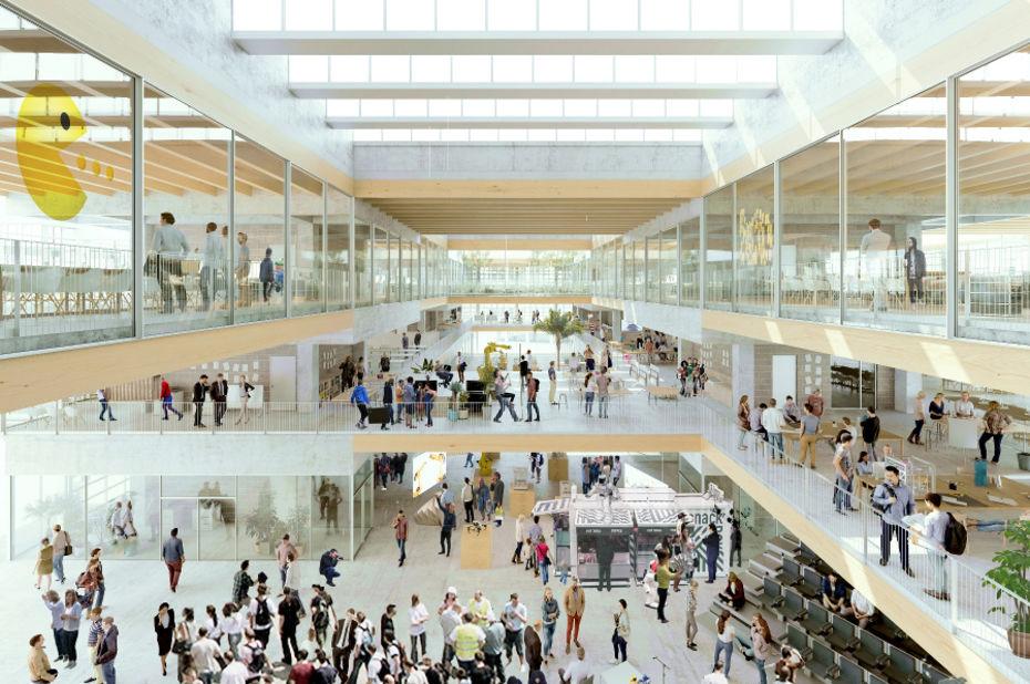 La future Halle French Tech, située dans le nouveau quartier Cambacérès