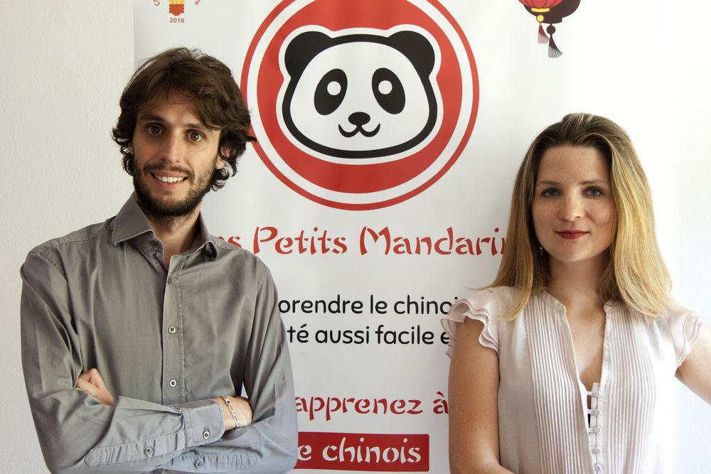 Julien Herrera et Vigdis Herrera, les fondateurs des Petits Mandarins