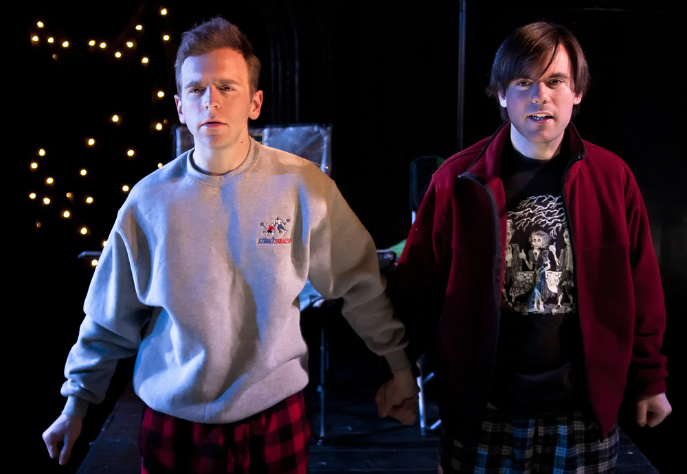 As Matt in Nick Jones's The Wundelsteipen and Other Difficult Roles for Young People at The Flea (pictured with Alex Herrald)