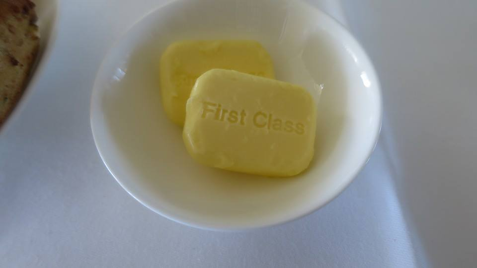 Butter stamped with the logo
