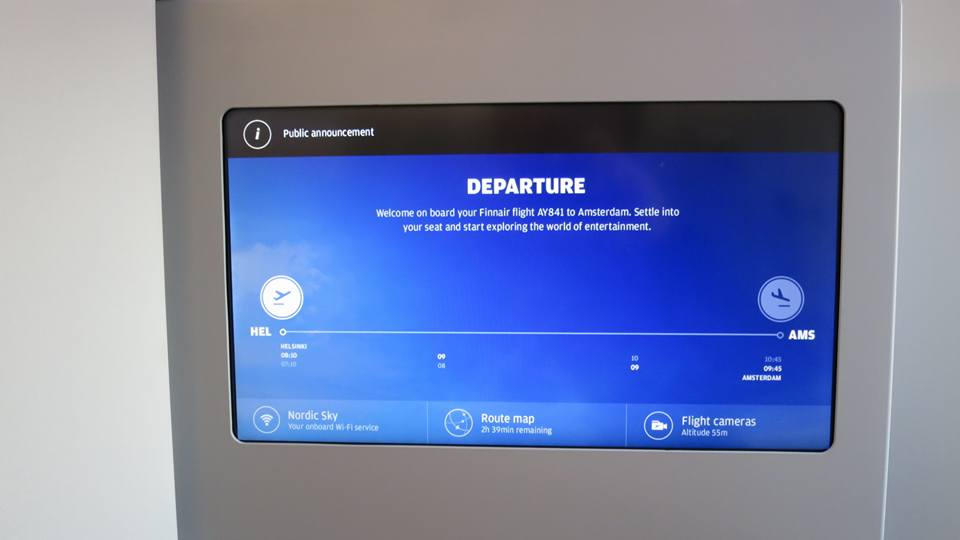 One of the best features of this IFE, I wish I had a better picture of: It shows the time under both cities in both time zones. So simple, yet no one did it until now