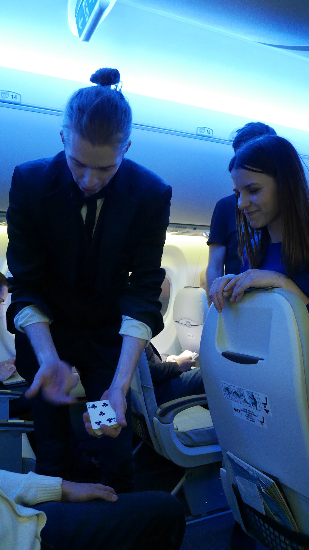 Even hired a magician onboard for entertainment