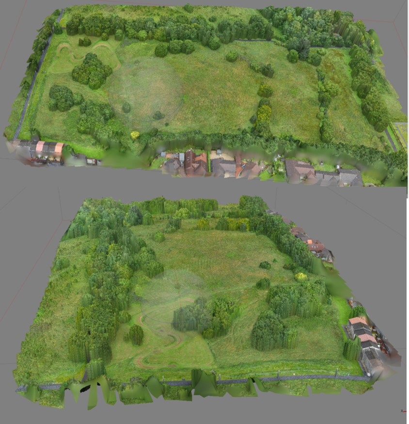 We flew a DJI S1000+ armed with a Panasonic GH4 over this site in West Lothian. The combined result of 180 images taken at 50m altitude was this point cloud model used by our client for planning and visualisation purposes.    Click to find out more about our aerial drone survey services