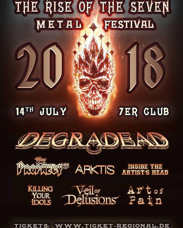 #Mannheim !! Metal? Hell yeah #Metal🤟🔥 Am 14.07. gibt es ganz ganz viel Metal mit #ARKTIS auf dem The Rise of the Seven Metal Festival !! #wirsindarktis #theriseofthesevenmetal #metalisnotdead  #joshiscumming