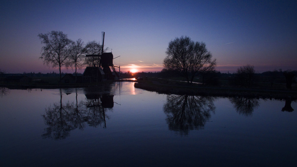 Sunset at the Kromme Mijdrecht