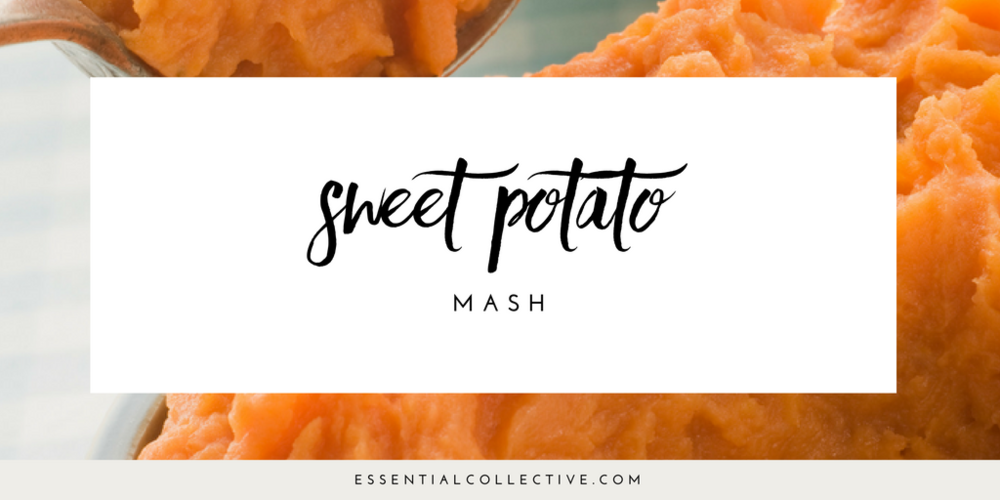 Sweet potato mash with cinnamon essential oil - made in the Thermomix.