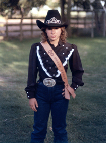 Hanging 76 Little Britches Rodeo Queen, Becky Beegle. Srsly.