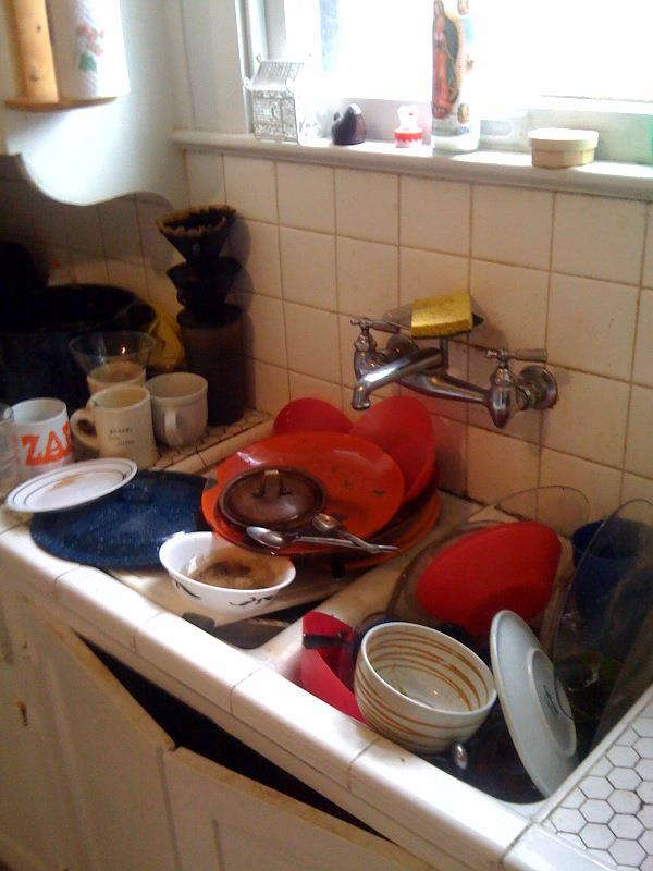 """The sink at Avenue B. We named the smell from the dirty dishwater Gary. It made it more fun to come home and smell the foul sink water when we said, """"Gary's here!"""" Instead of, """"Oh god! We have to do the fucking dishes!"""""""