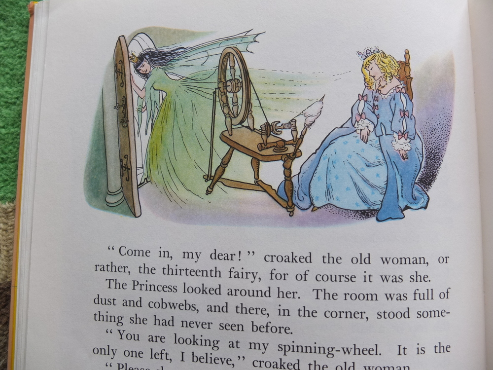 "The ""witch"" in this Enid Blyton Sleeping Beauty is actually a bad fairy, the 13th Fairy."