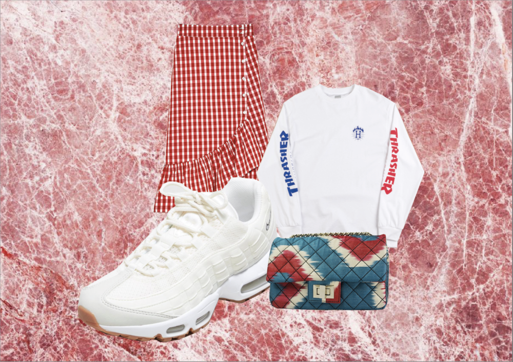 SNEAKERS:  Nike Air Max 95 OG Women's  | SKIRT:  Zara  | LONG SLEEVE:  Asos Men's  | BAG:  Rough Studios Mini Bandita
