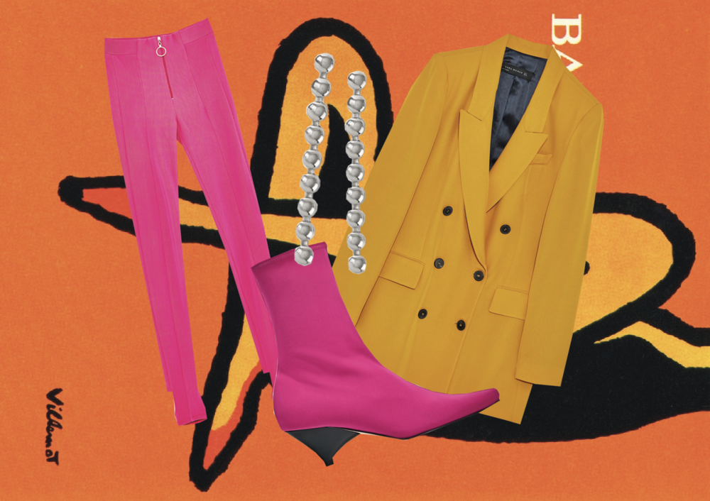 LEGGINGS: Zara | EARRINGS: Topshop | BOOTS: Zara | BLAZER: Zara