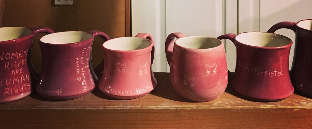 A selection of Pink Mugs