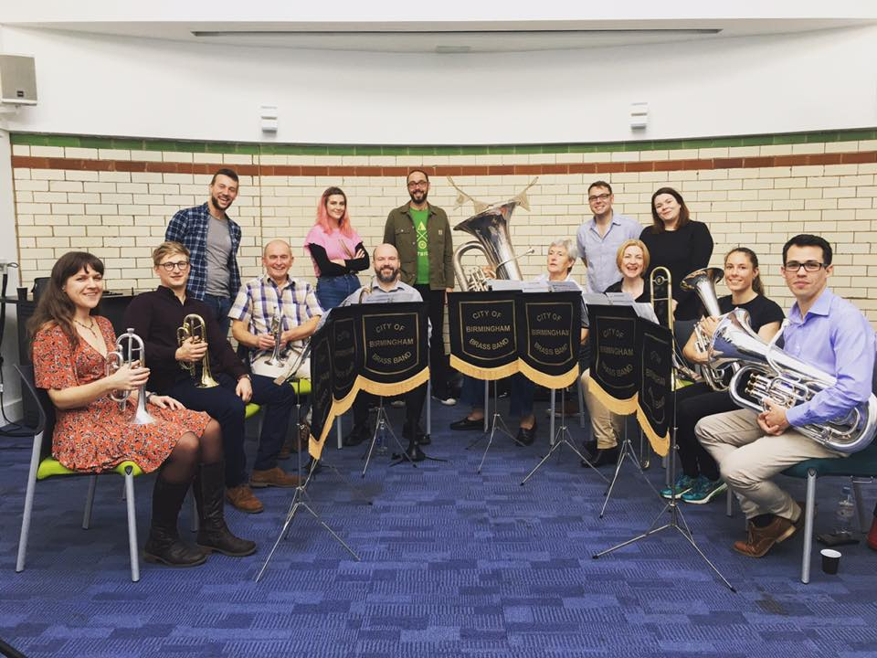 Step four: get a brass band - The City of Birmingham Brass Band.