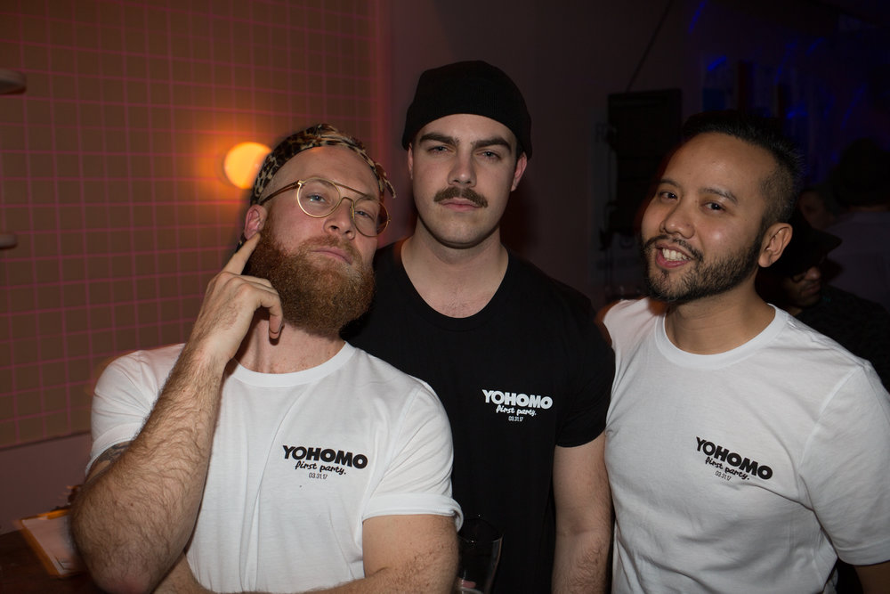 Team Yohomo: (from left) Phil Villeneuve (founder/editor), Mathieu Bellemare (digital manager), Diego Armand (founder/editor)