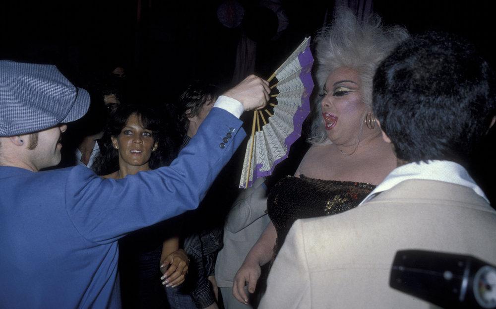 Elton Joh fanns Divine at Studio. Photographer: Ron Gallela