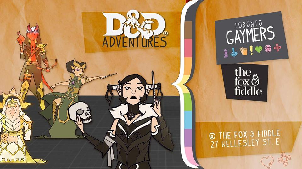 """""""Welcome new and returning warriors! Draw your weapons, ready your spells, and claim your legacy by joining us on another D&D adventure with our fantastic Gaymers Dungeon Masters!  We have some one-shot campaigns ready for you to play through (some have been recurring with returning champions!). This is a safer queer space for all our Gaymers who just love D&D, and the joy of sharing it with friends! 🌈  If you so choose to partake in a quest for the night there, it's $5 (or Pay-What-You-Can!) ⚔️  NO experience of previous adventures needed! We also have handbooks that you can borrow for the night, and our Quest-Givers/Dungeon Masters are lovely and patient to walk you through the process! 🐉  Our Dungeon Masters may make a short post about their campaign here this week, and you may comment under to reserve a spot if you wish! You may also come to observe the games quietly! 🎲  Questions? Concerns? Feel free to e-mail Toronto Gaymers (group) , or your hosts Jackie Chan (jackie@torontogaymers.ca) or David Kalbun (david@torontogaymers.ca) 💖""""  """""""