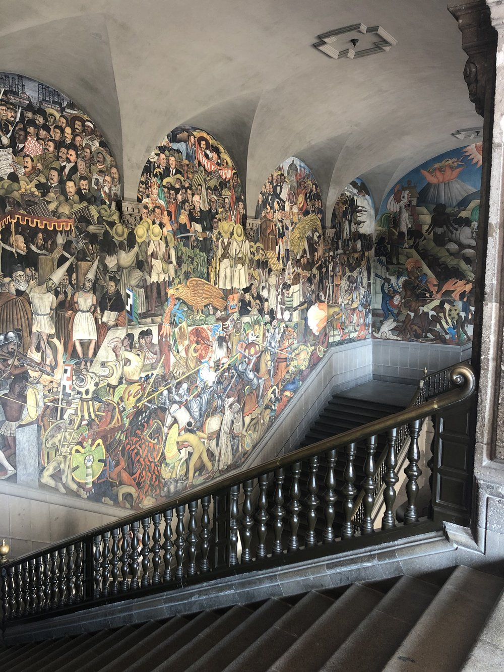 World famous murals by Diego Rivera inside the National Palace.