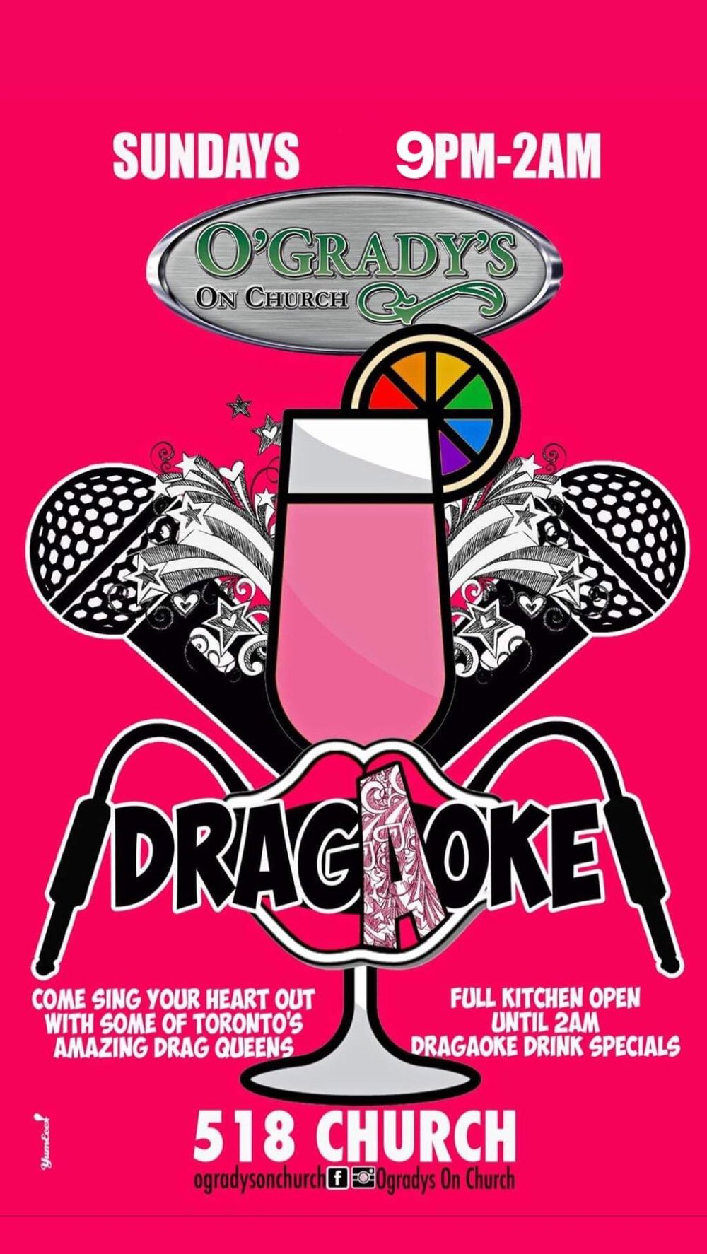 Drag-A-Oke-Sundays-O'Gradys
