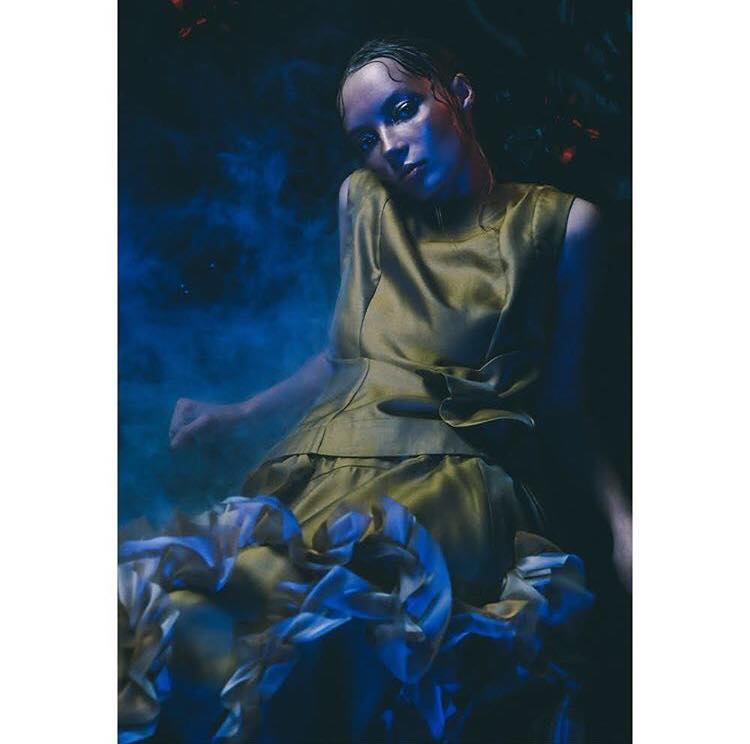 A shot from the Roberts|Wood #LondonFashionWeek  presentation space/immersive experience a few weeks back, for which I composed the ambient soundscape.  Directed by  Crowns & Owls . Model: Brooke Madsen.