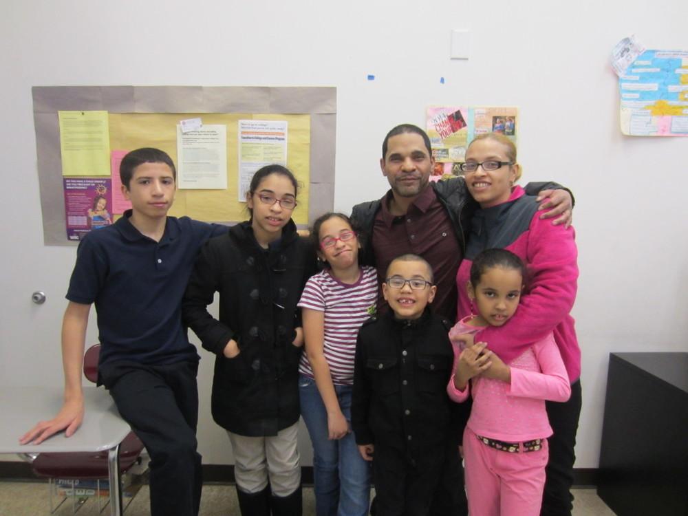 The Hernandez family — Daniel and Natasha with children Sergio, Kissandra, Xyomara, Daniel and Jordan.