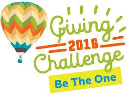 #Betheone #Givingchallenge2016