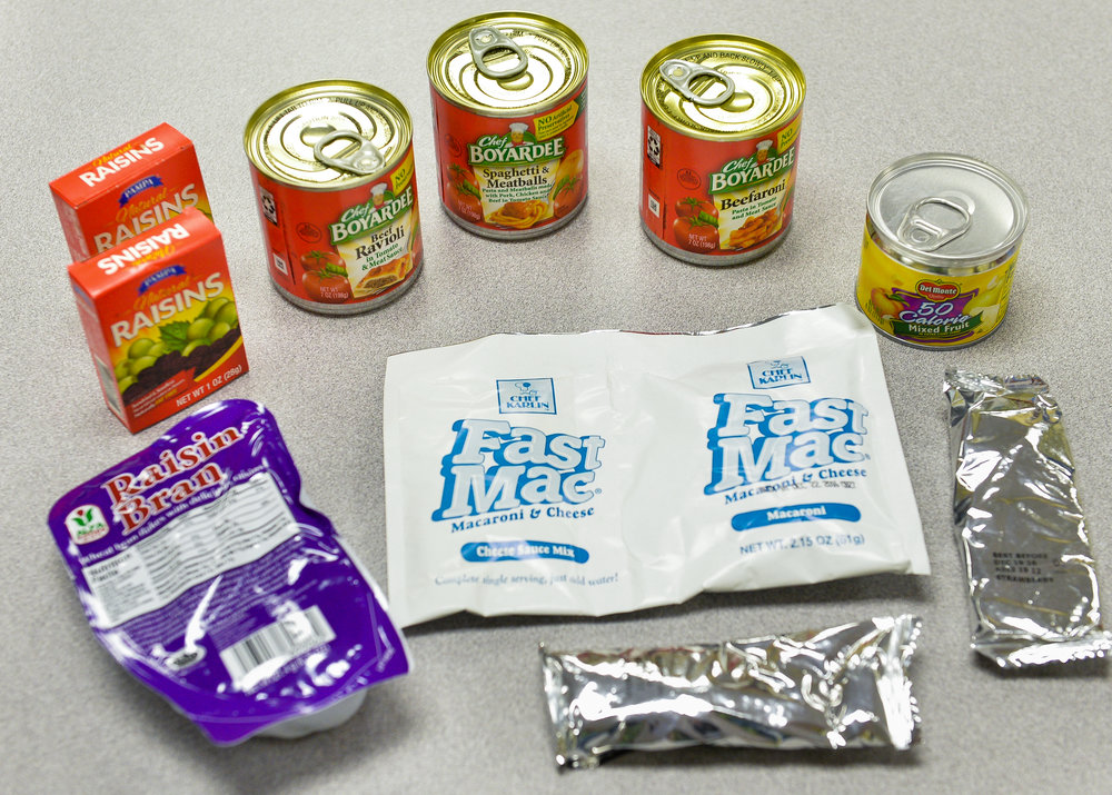 Examples of the old foods offered in the Backpack Kids program. Herald-Tribune staff photo / Dan Wagner