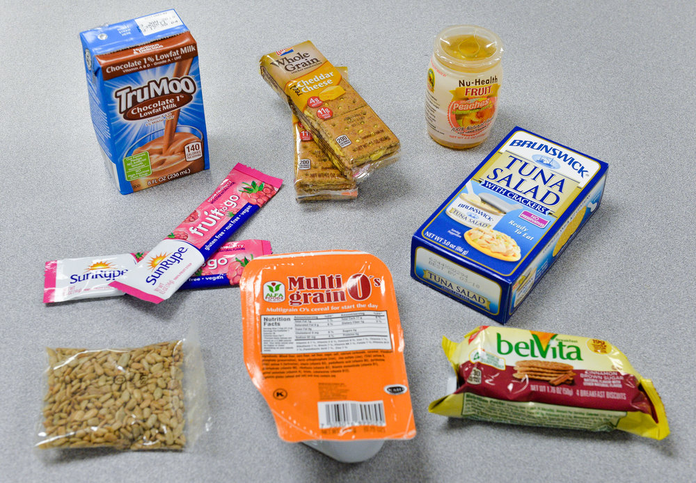 Examples of the new for nutritious foods offered in the Backpack Kids program. Herald-Tribune staff photo / Dan Wagner