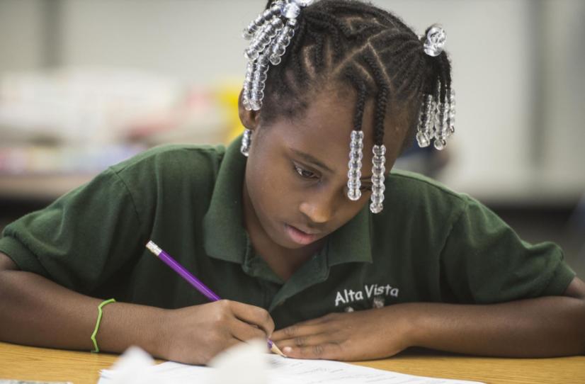 In this 2015 photo, Kamiya Crocker does math work during Alta Vista's Elementary summer programs. [Herald-Tribune staff photo / Nick Adams]