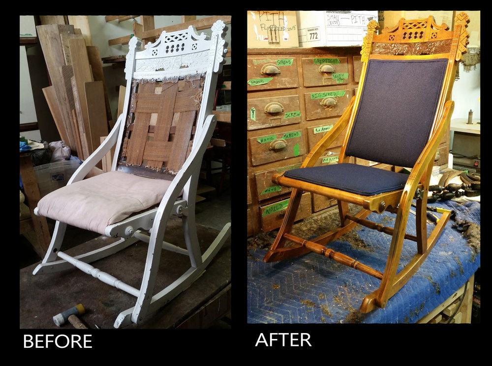 A full restoration of an Eastlake rocker
