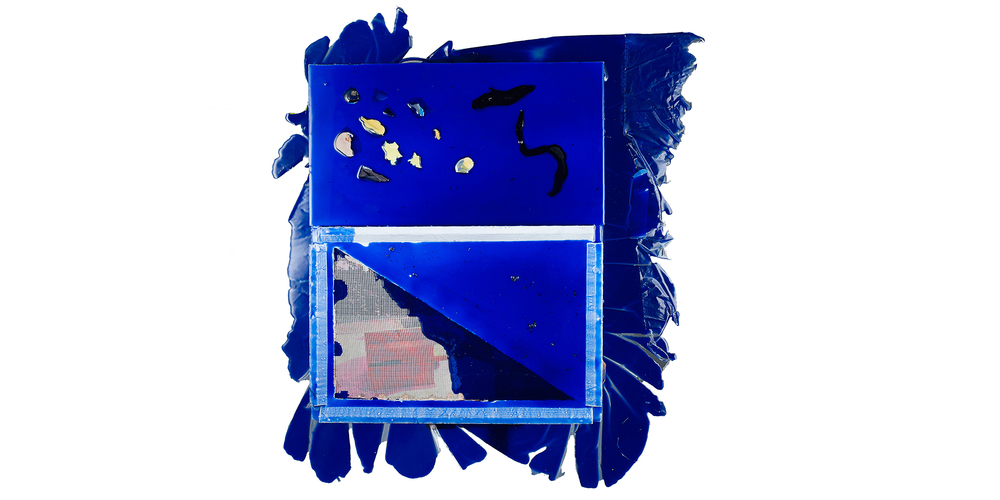 Pablo Jansana © 2016  , Superimposition . Epson Ultrachrome Pro 4880 Inkjet print and Lambda on MDF, paper, fiberglass, plexiglass, wood, aluminium. pigment and resin epoxy. 80.5 x 65 x 5.5 cm. Courtesy of the artist.