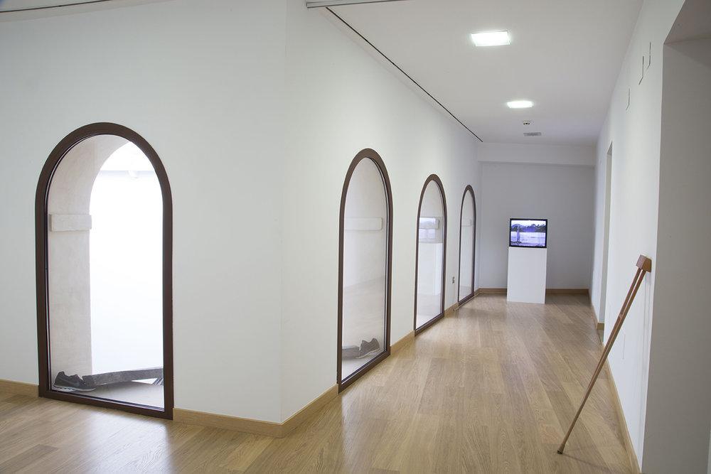 SANTIAGO REYES VILLAVECES. NIKE.BALAM BARTOLOME. MIICHI.PEPE ESPALIU ©2016,INSTALLATION VIEW.EXHIBITION AT MUSEO CENTRO DE ARTE PEPE ESPALIÚ