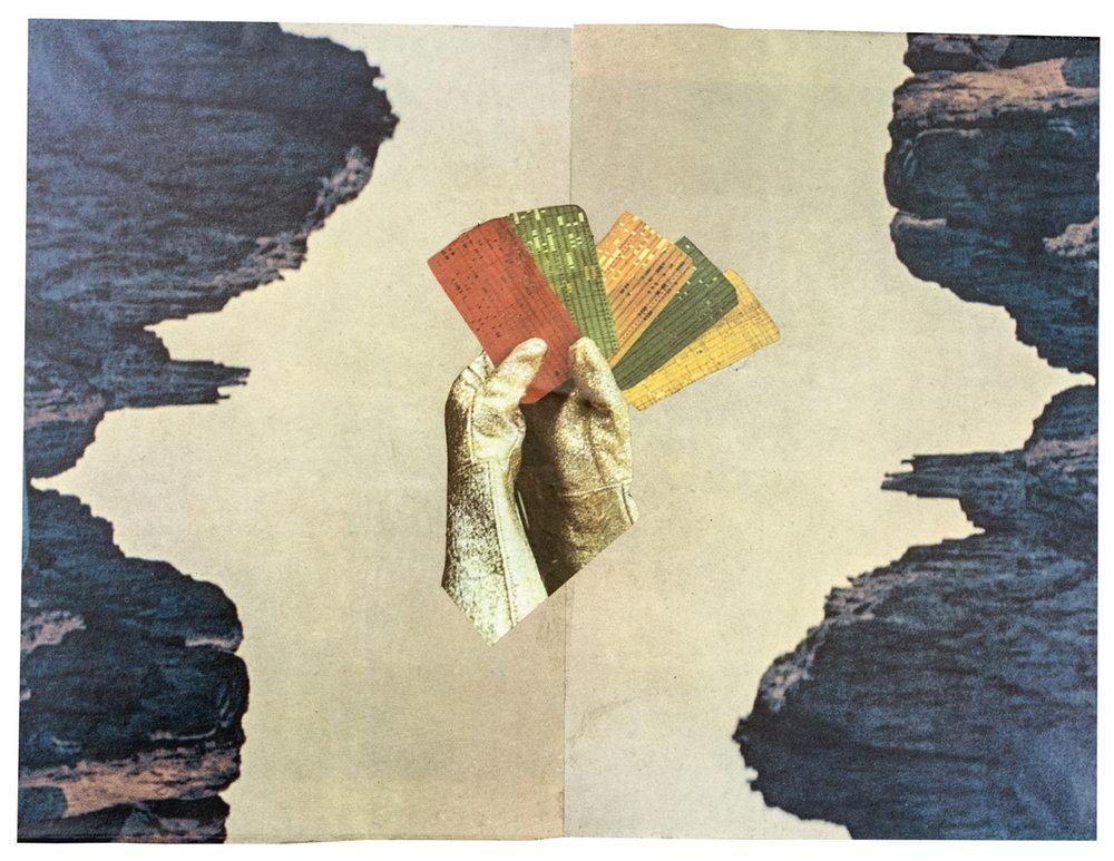 Jeu de carte 20,9 x 28 cm Collage sur papier 2017