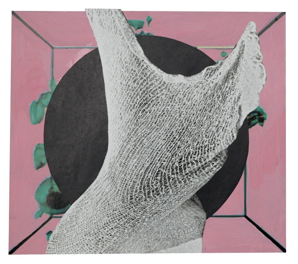Pink Box 19 x 21,4 cm Collage sur papier 2017