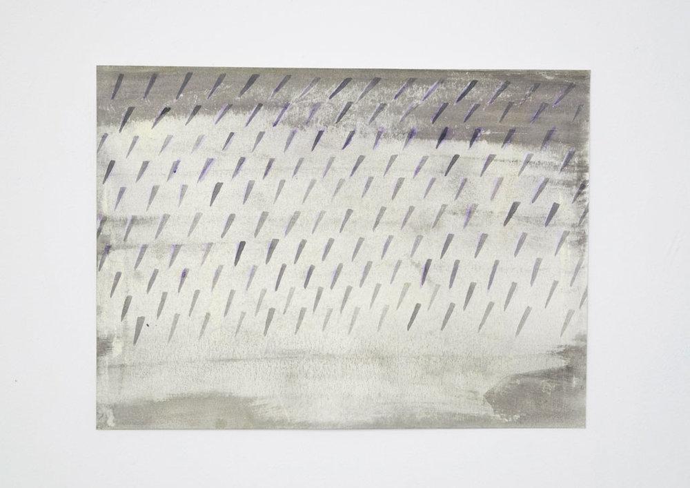 Gray Field Aquarelle sur papier 8 x 10 pouces 2018