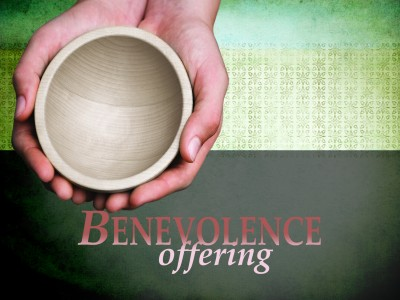 """A Benevolence Fund offering will be collected July 23 to help people in our community pay for food, gas, utilities, and much more. Please put your donation in the """"Benevolence Fund"""" envelope located in the pew."""