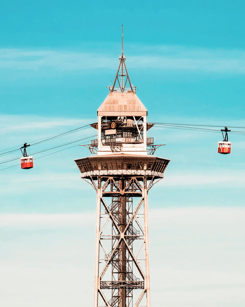 Photo by  @NicanorGarcia  | Port Vell Aerial Tramway | Barcelona, Spain