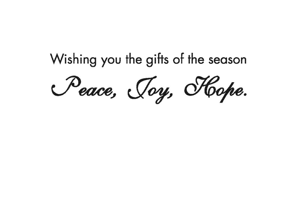 Peace Joy Hope