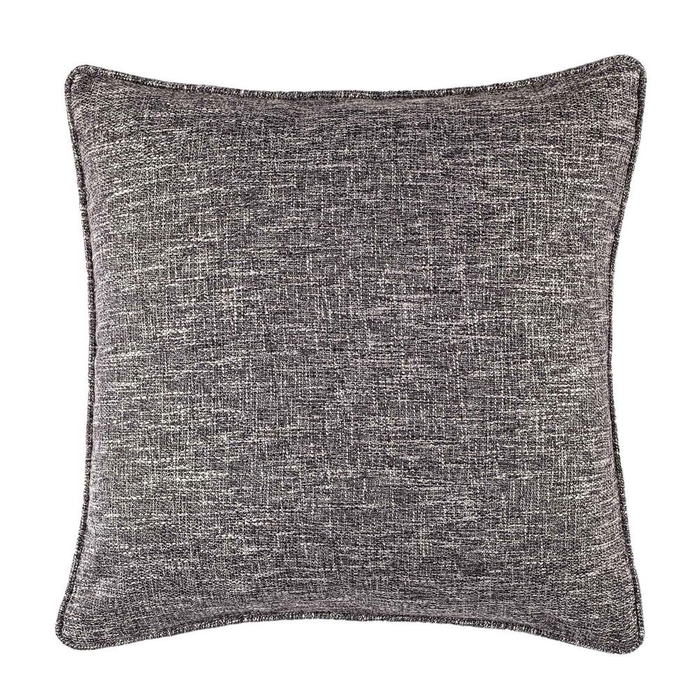 black linen blend tweed decorative pillow case - Black Decorative Pillows
