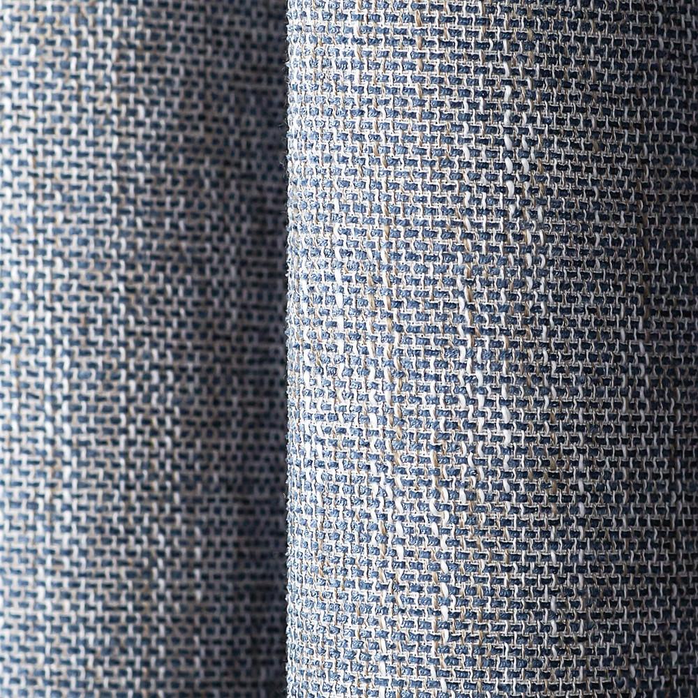 Amazing Blue Linen Blend Tweed Window Curtain