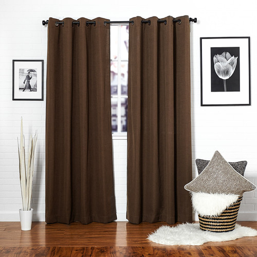 Curtains Ideas brown linen curtains : Brown Linen Blend Canvas Window Curtain — Homier