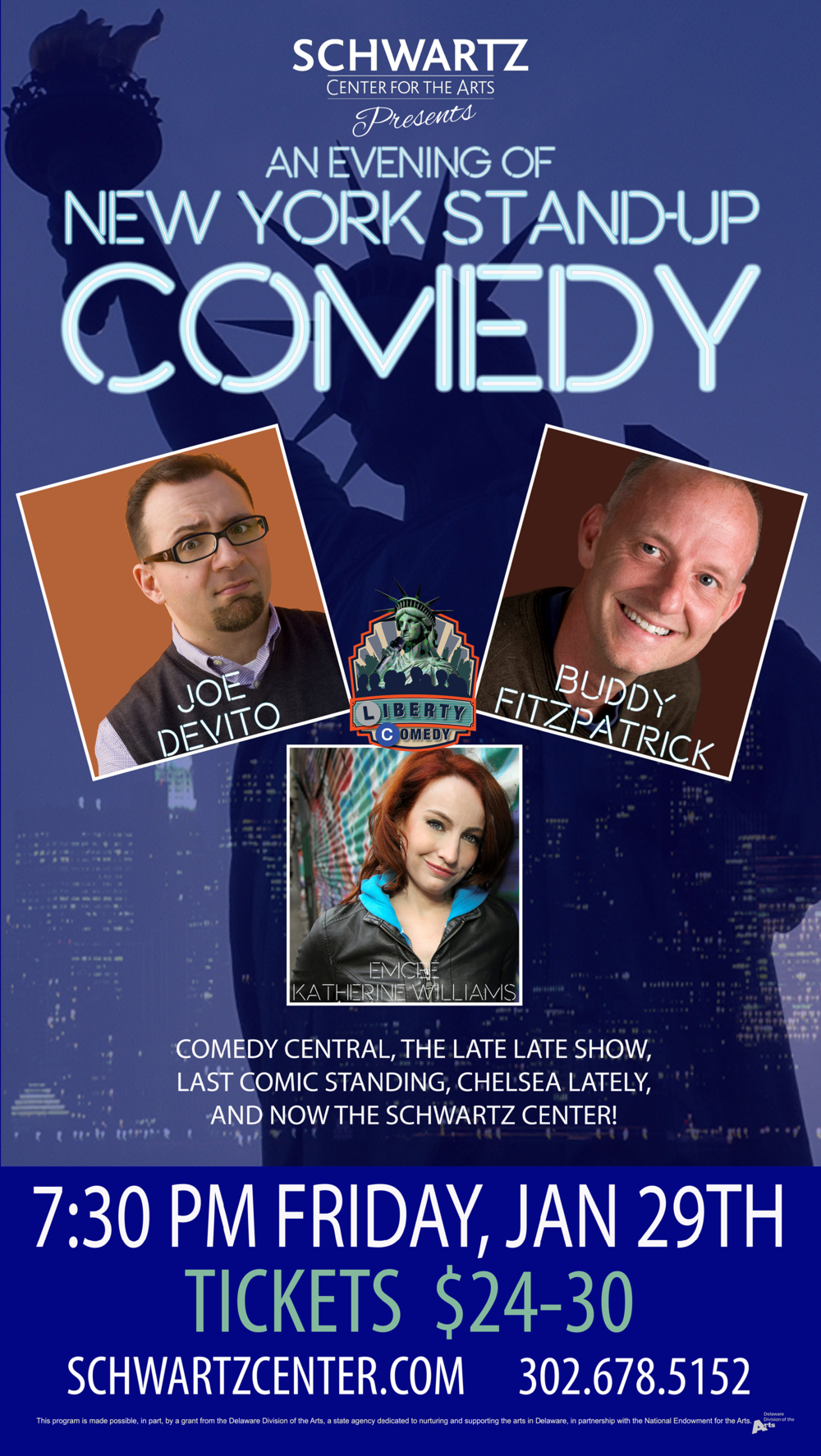 Event Poster - Comedy - Joe DeVito, Buddy Fitzpatrick, Katherine Williams