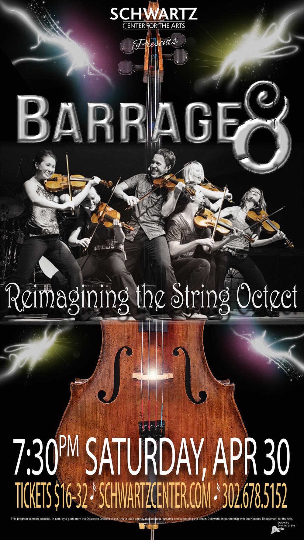 Concert Poster - Barrage 8
