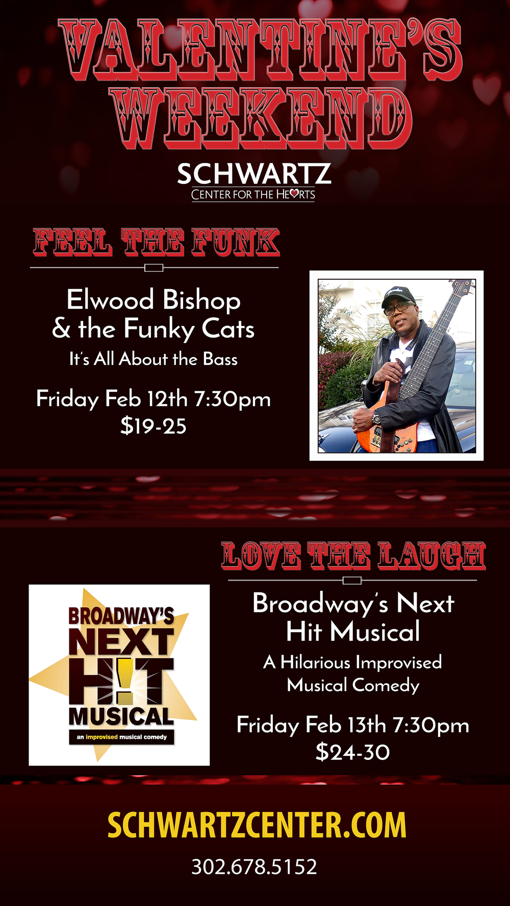 Concert & Theater Poster - Elwood Bishop & the Funky Cats, Broadway's Next Hit Musical Comedy