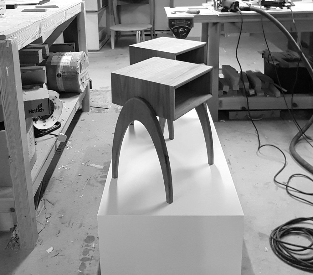 Retrospect Sidetables will be on display at New Designers