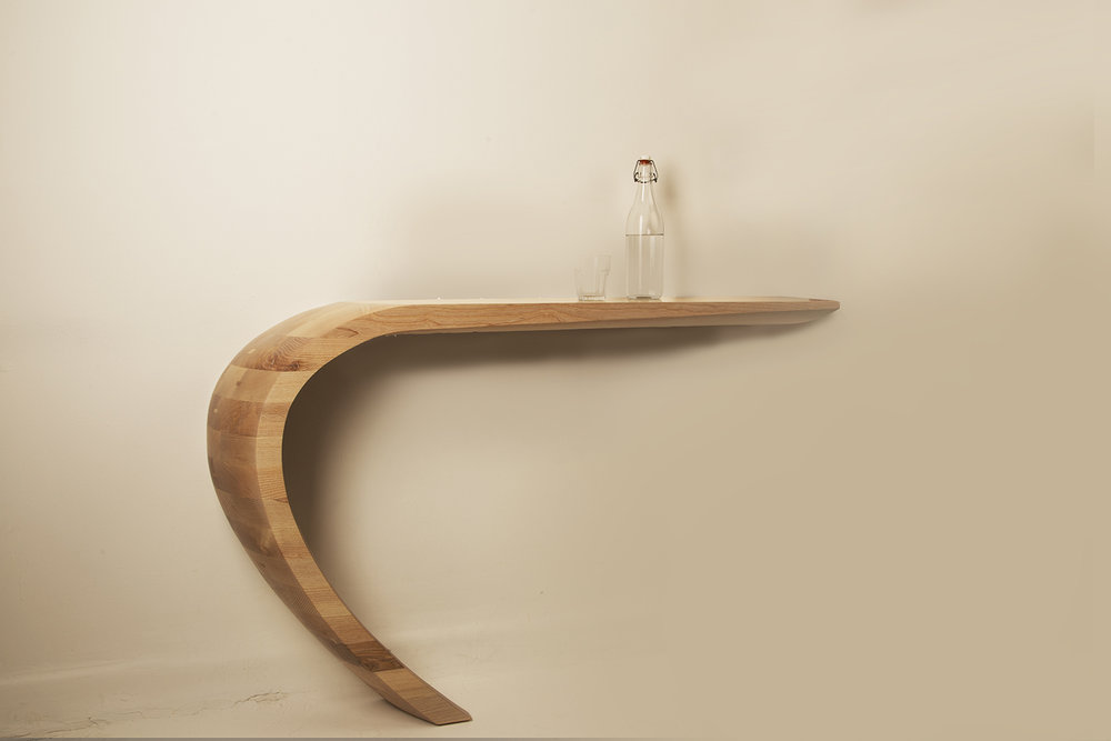 Tephra Console Table and shelf by Alan Flannery Furniture Design L3.jpg