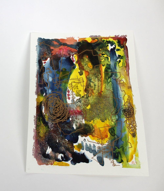 Klimt Kopy  9 x 12 inch