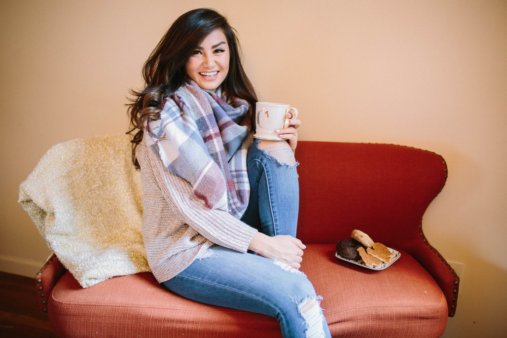 Cozy thanksgiving Fashion Caila Quinn