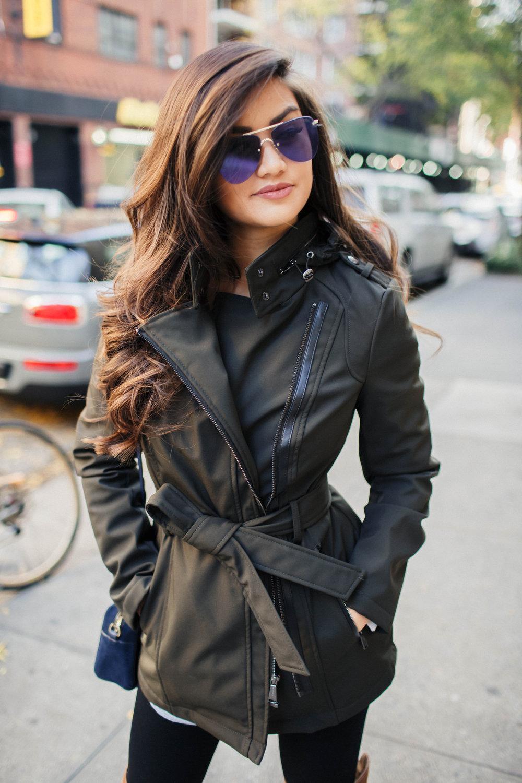 Caila Quinn Michael Kors Olive Fall Jacket